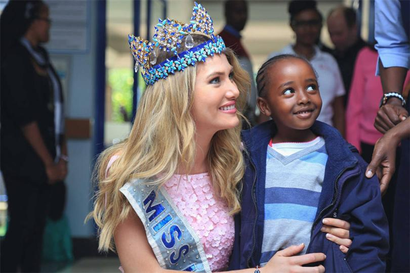 Miss World 2015 Mireia Lalaguna donating charity for Smile Train in Kenya