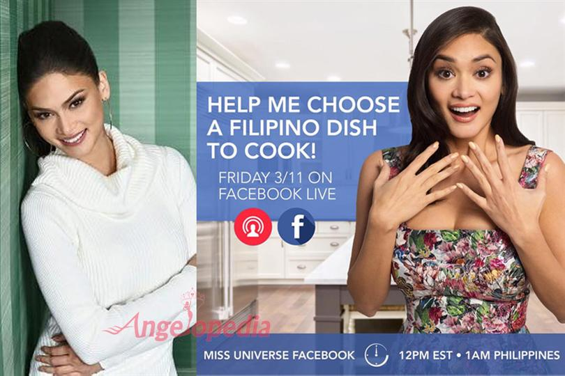 Pia Wurtzbach Miss Universe 2015 to go live on Facebook