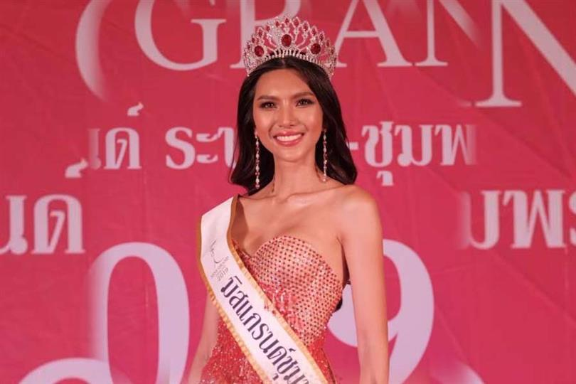 Juthamas Mekseree crowned Miss Grand Chumphon 2019 for Miss Grand Thailand 2019