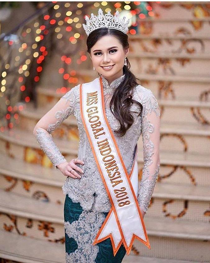 Fabienne Nicole Groeneveld Miss Global Indonesia 2018, our favourite for Miss Global 2018