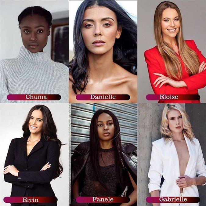 Miss South Africa 2019 Meet the Semi-Finalists