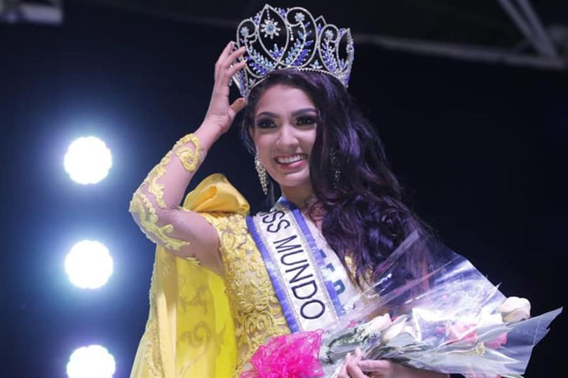 María Teresa Cortéz Mendieta of Carazo crowned Miss Mundo Nicaragua 2019