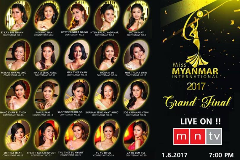 Miss Myanmar International 2017 Live Telecast, Date, Time and Venue