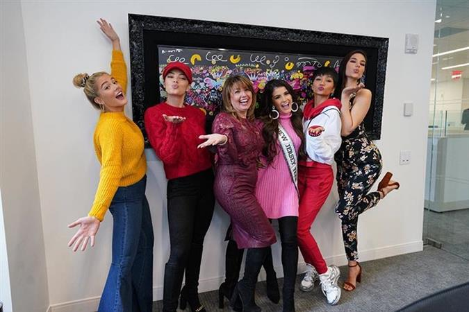Miss Universe beauties enjoy the day of love together in New York City