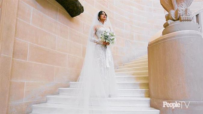 Priyanka Chopra's Ralph Lauren wedding gown has sentimental messages sewn into it