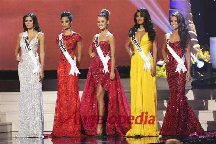 Miss Universe 2014 Top 5 finalists
