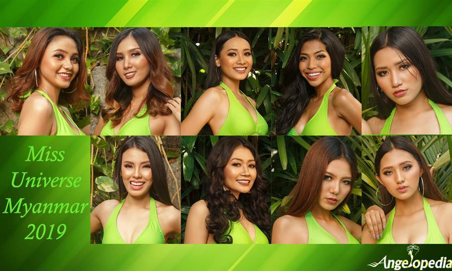 Miss Universe Myanmar 2019 Contestants