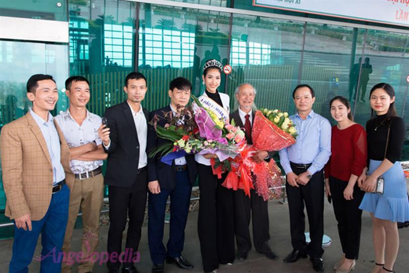 Miss Universe Vietnam 2017 First runner-up Hoang Thi Thuy returns home!