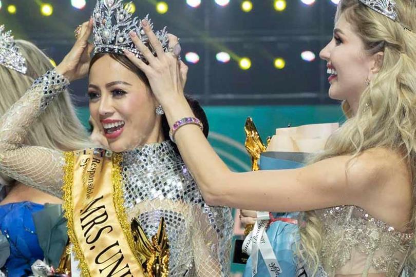 Honey Cho of Myanmar crowned Mrs Universe 2019
