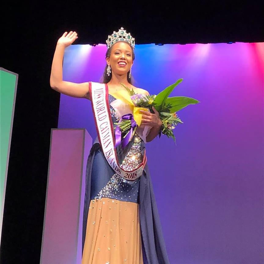 Kelsie Woodman-Bodden crowned Miss World Cayman Islands