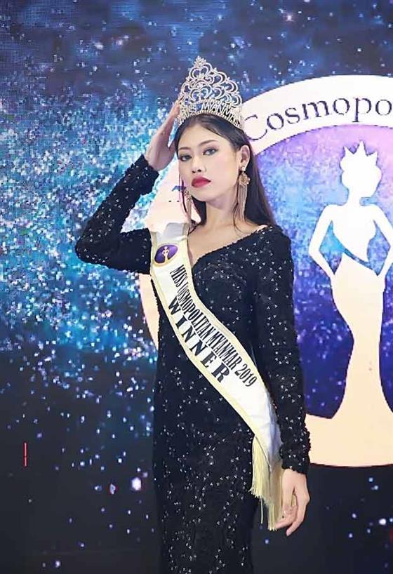 Wai Hnin Lwin Tun crowned Miss Cosmopolitan Myanmar 2019