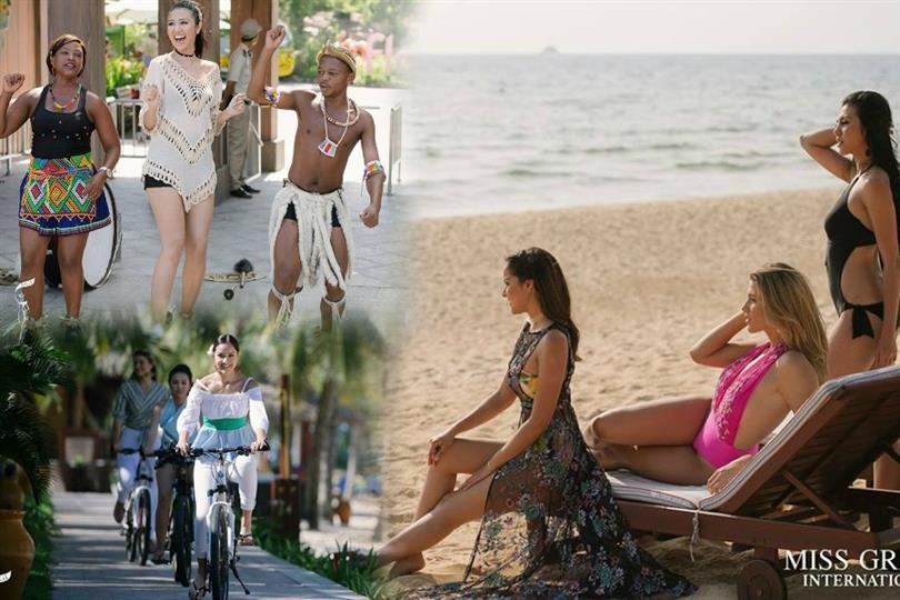 MGI 2016 beauties video filming for Miss Grand International 2017