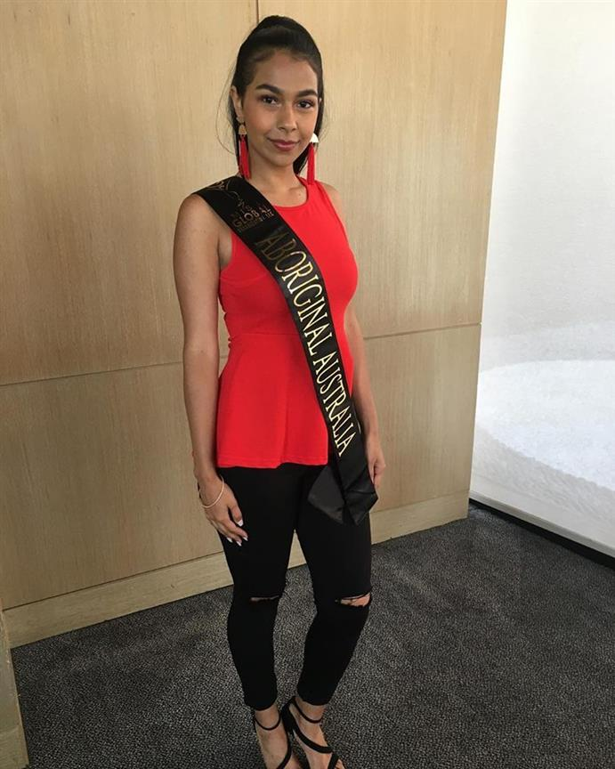 Ashanta Eve Wotton Miss Global Aboriginal Australia 2018, our favourite for Miss Global 2018