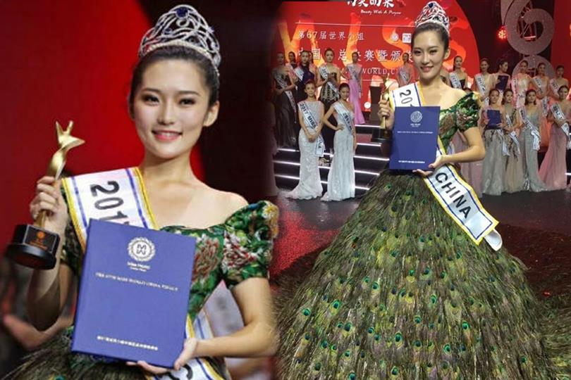 Guan Siyu crowned Miss World China 2017