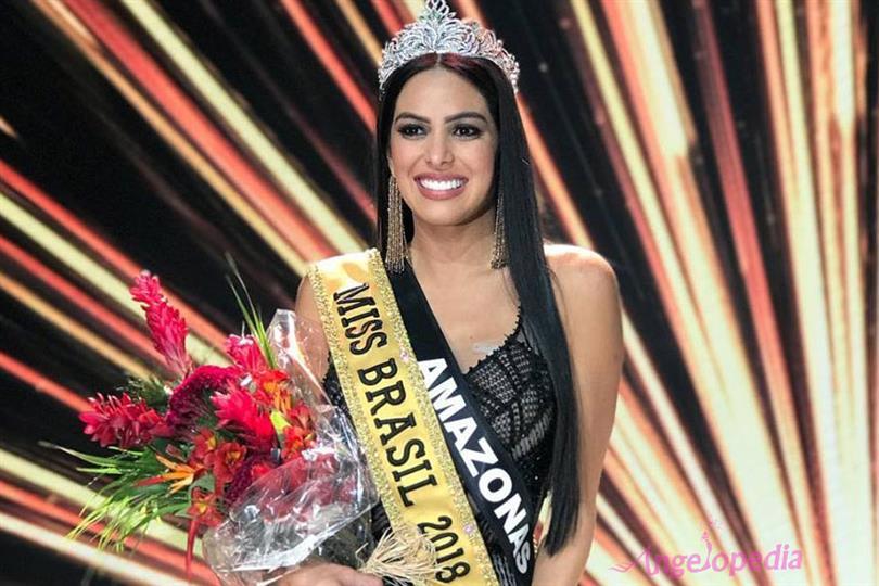 Mayra Dias crowned Miss Brasil 2018