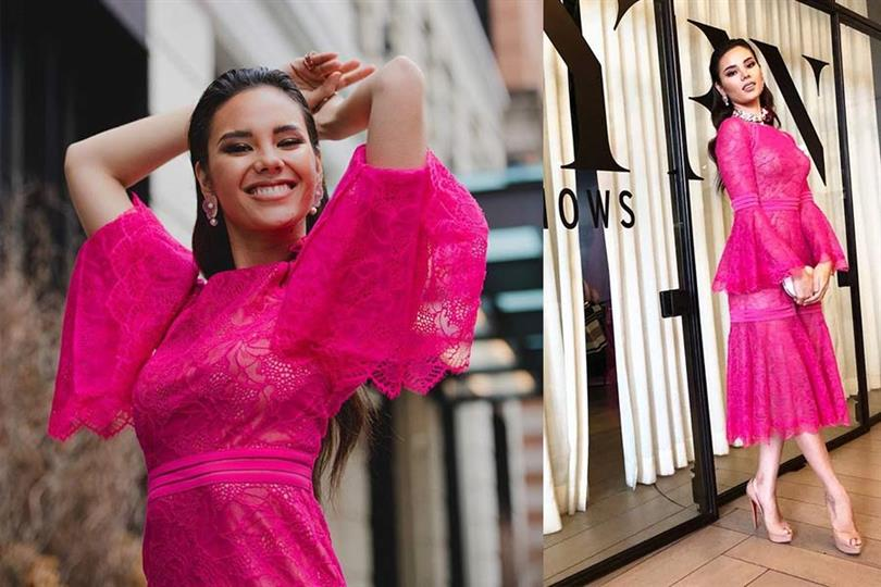 Miss Universe 2018 Catriona Gray kicks off to a miscellaneous look in New York Fashion Week 2019